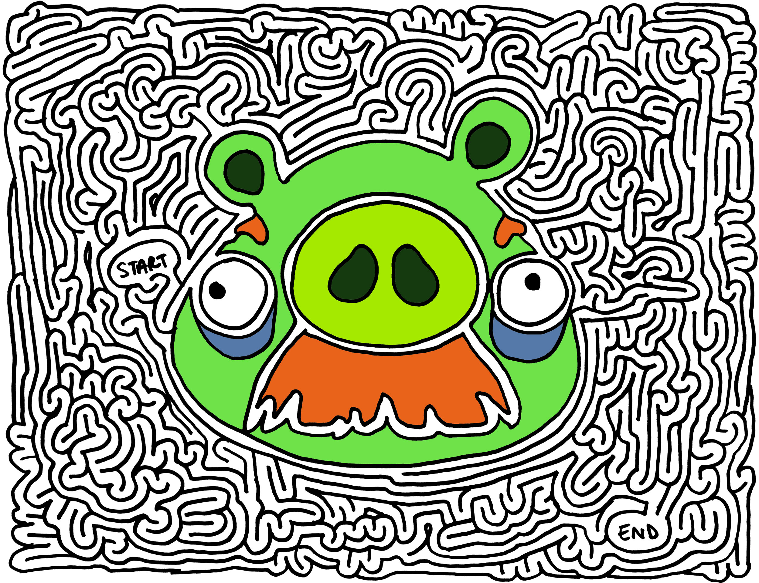 Angry Birds Bad Piggies Coloring Pages Angry birds bad piggiesAngry Birds Bad Piggies Coloring Pages